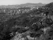 As montanhas de Coreia do Sul Fotos de Stock Royalty Free