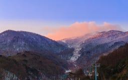 As montanhas de Deogyusan são cobertas pela neve Fotografia de Stock Royalty Free