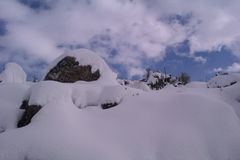 As montanhas de Líbano Imagem de Stock