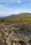 As montanhas de Ural na queda adiantada Foto de Stock