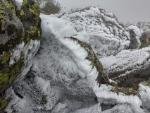 As montanhas de Ural, paisagem do inverno Foto de Stock