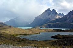 As montanhas em Torres del Paine imagem de stock