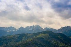 As montanhas inspiradores ajardinam o panorama, dia bonito no verão Tatras Foto de Stock