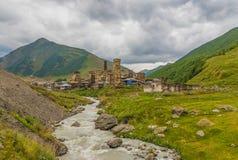 As montanhas maravilhosas de Svaneti, Geórgia imagem de stock royalty free
