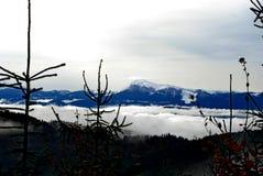 As montanhas na neve fotos de stock royalty free