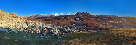 As montanhas nomearam   Imagem de Stock