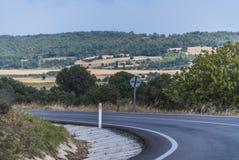 As montanhas road Fotografia de Stock Royalty Free