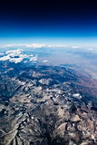 Tiro aéreo das montanhas Fotos de Stock