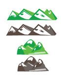 As montanhas vector o grupo Fotos de Stock