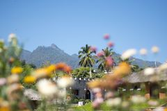 As montanhas verdes no vale de Pai, Tailândia imagens de stock