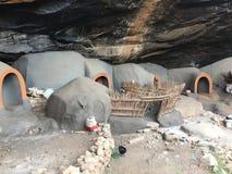 As moradias de caverna de Kome as cavernas de Kome fotografia de stock royalty free