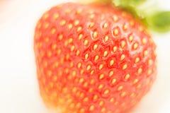 As morangos frescas foram colocadas em um fundo branco Fotografia de Stock Royalty Free