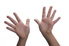 As mãos abrem Foto de Stock Royalty Free