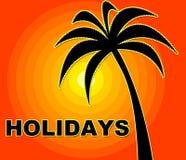 As mostras das férias de verão vão na licença e aquecem-se Imagem de Stock