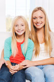 As mother as daughter. Stock Photo