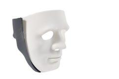 As máscaras preto e branco gostam do comportamento humano, concepção Fotos de Stock Royalty Free