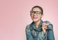 As mulheres asiáticas estão felizes Foto de Stock Royalty Free