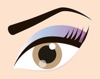 As mulheres compõem e cosméticos Imagens de Stock Royalty Free