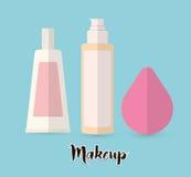 As mulheres compõem e cosméticos Fotografia de Stock Royalty Free