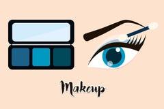As mulheres compõem e cosméticos Imagem de Stock