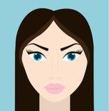 As mulheres compõem e cosméticos Fotos de Stock Royalty Free