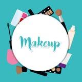 As mulheres compõem e cosméticos Fotografia de Stock