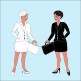 As mulheres de negócio… e seu dedo estão acima ilustração do vetor