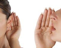 As mulheres dizem e escutam Foto de Stock