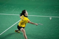 As mulheres do badminton escolhem a competição. Imagens de Stock
