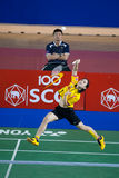 As mulheres do badminton escolhem a competição. Imagem de Stock