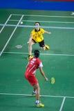 As mulheres do badminton escolhem a competição. Fotografia de Stock Royalty Free