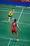 As mulheres do badminton escolhem a competição. Fotos de Stock Royalty Free