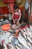 As mulheres introduzem no mercado em India Fotografia de Stock