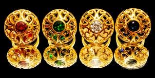 As mulheres turcas orientais antigas bonitas da joia do ouro soam Foto de Stock Royalty Free