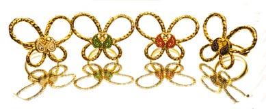 As mulheres turcas orientais antigas bonitas da joia do ouro soam Fotos de Stock Royalty Free