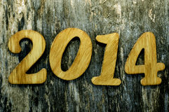 2014, as the new year Royalty Free Stock Photo