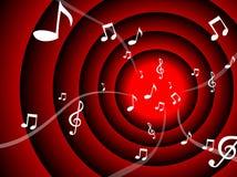 As notas de Mousic fluem Imagens de Stock Royalty Free
