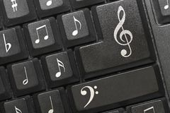 As notas do teclado. imagens de stock