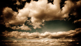 As nuvens. Fotografia de Stock Royalty Free