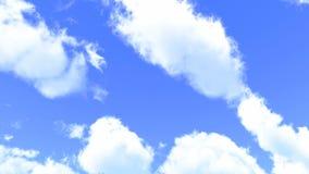 As nuvens brancas macias são de transformação e móveis através do céu azul video estoque