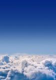 As nuvens brilharam de cima com do sol este espaço da cópia Fotografia de Stock