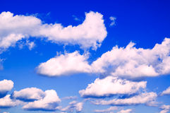As nuvens cor-de-rosa. Imagens de Stock Royalty Free