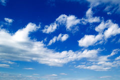 As nuvens do branco. Imagem de Stock Royalty Free