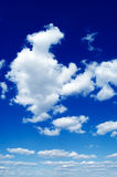 As nuvens do branco. Fotografia de Stock