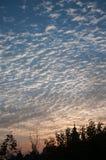 As nuvens encheram o céu Fotografia de Stock Royalty Free