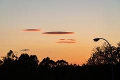 As nuvens Lenticular chamaram frequentemente nuvens da nave espacial fotografia de stock royalty free