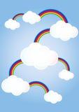 As nuvens ligaram arcos-íris ilustração do vetor