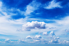 As nuvens no céu Fotografia de Stock Royalty Free