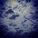 As nuvens são meu Happined Imagens de Stock