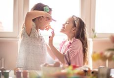 As an older sister, I earned the most Easter gifts royalty free stock image
